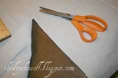 DIY Project Parade and DIY No Sew Script Drop Cloth Curtain Tutorial