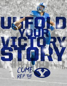 #BYU #CollegeFootball #Recruiting Sports Graphics, College Football, Oklahoma, Victorious, Banner, Movie Posters, Instagram, Ideas, Banner Stands