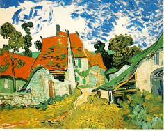 Vincent van Gogh: Village Street in Auvers.  Oil on canvas.  Auvers-sur-Oise: May, 1890.  Helsinki: Ateneum Art Museum. (Info from vggallery.com)