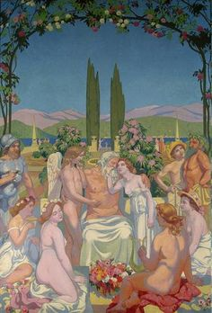Panel 5. In the Presence of the Gods Jupiter Bestows Immortality on Psyche and Celebrates Her Marriage to Eros - Maurice Denis