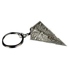 Quantum Mechanix Star Wars Star Destroyer Replica Key Chain, Grey