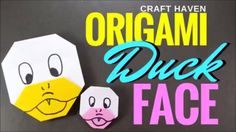 How to Make Origami Duck Face - Easy Origami Duck Tutorial for Beginners...