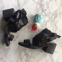 Edgy Buckle Cutout Bootie Vegan Leather Edgy Brand New Vegan Leather Buckled Bootie Heel Sandals / Cutout style / looks a lot like Balenciaga & Alexander wang SIZE 24 which is a 7 . Beautiful well made. Free People Shoes Ankle Boots & Booties