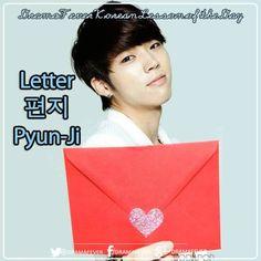 Letter in Korean