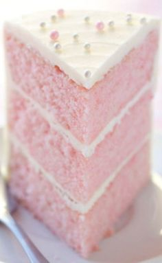 Pink Almond Party Cake Recipe The Cake Merchant***note to self.I will not use almond extract*** Food Cakes, Cupcake Cakes, Cupcake Icing, Buttercream Frosting, Köstliche Desserts, Delicious Desserts, Dessert Recipes, Pie Dessert, Frosting Recipes