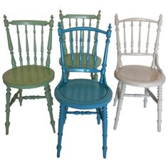 Painted Swedish Side Chairs | From a unique collection of antique and modern side chairs at https://www.1stdibs.com/furniture/seating/side-chairs/