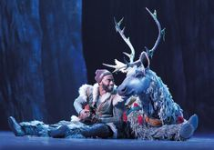 """Bringing the icicled magic of Disney's """"Frozen"""" from animated screen to a Broadway stage required imaginative reinvention in several forms; enter puppet designer Michael Curry, who adapted Olaf and Sven for the Great White Way. Broadway Nyc, Frozen On Broadway, Frozen Musical, Frozen Film, Sven Frozen, Disney Frozen, Kristoff Frozen, Frozen Trolls, Aladdin Musical"""