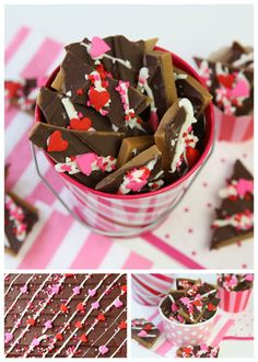 Cute   Easy Valentine's Day Toffee!