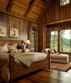 Rustic Cabin bedroom - what a dream!