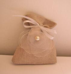 Rustic Linen Wedding Favor Bags  Set of 100 Bags  by KuKuuGifts