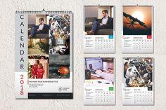Wall Calendar 2018-V07 by Template Shop on @creativemarket