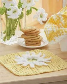 Daisy Dish Cloth