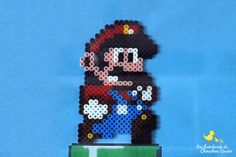 Tableau Mario en perles à repasser | Les Aventures du Chouchou Cendré Mario Bros, Diy, Character, I Like You, Quirky Gifts, Bricolage, Do It Yourself, Homemade, Lettering