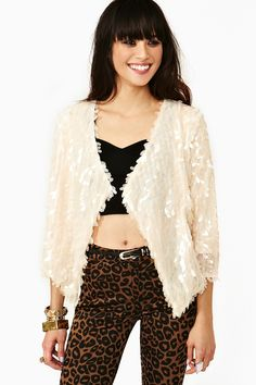 See The Light Sequin Jacket