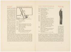 Hamlet, 1928. Design by Eric Gill Edward Johnston. Illustration by Edward Gordon Craig. Translation by Gerhart Hauptmann. Germany.