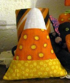 Peck's Pieces: Candy Corn Pincushion
