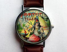 Lovely Gypsy Watch, Vintage Tobacco Label, Ladies Watch, Men's Watch, Antique, Paper Ephemera, Unisex, Collage, Analog, Gift Idea by 10northcreative on Etsy https://www.etsy.com/listing/221192379/lovely-gypsy-watch-vintage-tobacco-label