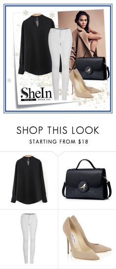 """""""#SheIn"""" by edin-levic ❤ liked on Polyvore featuring Post-It, 2LUV and Jimmy Choo"""