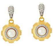 Genesi 18K Clad Cultured Pearl & White Topaz Drop Earrings - J330189