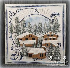 Thea's+eigen+gemaakte+kaarten:+   Oostenrijk+in+de+winterHallo+blog+maatjes,Vand...