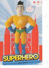 ALAN DART SUPERHERO SUPERMAN - TOY KNITTING PATTERN Crochet Toys, Knit Crochet, Jean Greenhowe, Alan Dart, Superhero Superman, Knitting Patterns, Crochet Patterns, Stuffed Toys Patterns, Free Pattern