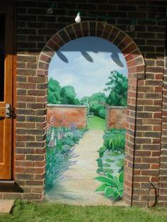 trompe l'oeil murals - garden - Google Search