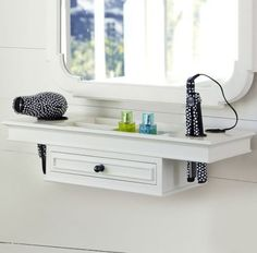 Wall mounted vanity and straightener holder!