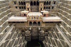Chand Baori is a famous stepwell situated in the village of Abhaneri near Jaipur in the Indian state of Rajasthan.