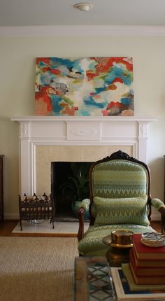 beautiful & colorful abstract painting by kristen f. davis