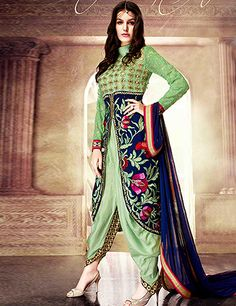 93b6e06258 Buy Amyra Bollywood Western Style Salwar Suits online in India at best  price.Authentic beauty comes out from your dressing trend with this  NavyBlue ...