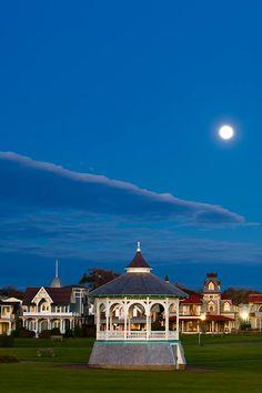Moon over Oak Bluffs, Martha's Vineyard, by Alison Shaw.
