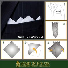 Trajes de Novio y Ternos London House: PAÑUELO, DOBLE MULTI-POINTED FOLD. TERNOS LIMA