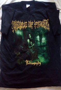 Dani Filth Cradle Of Filth I am the torn Thornography Tour shirt   sz L