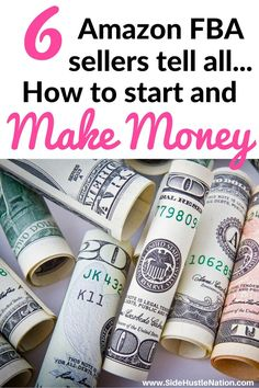 I can't wait to try these tips to make money with Amazon FBA. 6 inspirational side hustlers share secrets for Amazon FBA profits and make it sound easy to get started. Best Amazon FBA success tips collection ever...can't wait to get started! Side hustlers, entrepreneurs, freelancers, WAHMs and WHADs, if you've ever thought about trying Amazon FBA read this first.