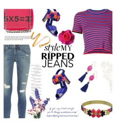 """""""Style My Ripped Jeans"""" by mimi1207 ❤ liked on Polyvore featuring rag & bone, Proenza Schouler, Manolo Blahnik, Chanel and Panacea"""