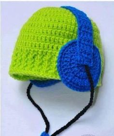 Baby Knitting Patterns Adorable baby boy--girl hat with headphones Fits babies to a...