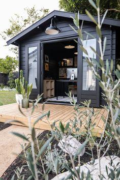 Backyard Office, Backyard Studio, Garden Studio, Garden Office, Backyard House, Outdoor Office, She Sheds, House And Home Magazine, Exterior Design