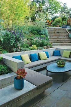 escalier exterieur elegant jardin