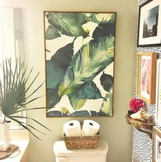 Learn how to fill empty walls in your bathroom with these clever, unique, and downright inspirational wall decor ideas. Bathroom Artwork, Bathroom Wall Decor, Wall Art Decor, Bathroom Ideas, Bathroom Beadboard, Cozy Bathroom, Restroom Ideas, Restroom Remodel, Bathroom Gallery