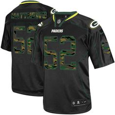 New Men s Black Nike Game Green Bay Packers  52 Clay Matthews Camo Fashion  NFL Jersey 6d2350192