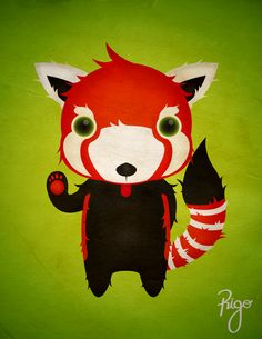 Red Panduz by Rigo Ortiz, via Behance