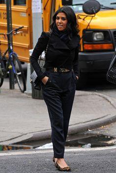 High waist pants/Moschino Belt Love this look! I NEED THIS MOSCHINO belt!!