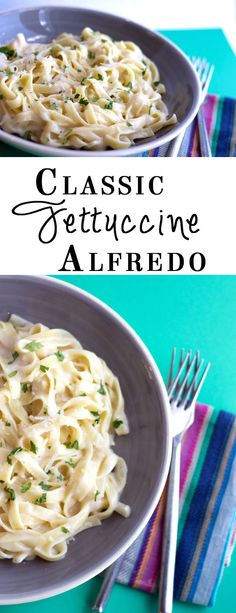 The Best Fettuccine Alfredo of Your Life Erren's Kitchen - Classic Fettuccine Alfredo - a simple yet spectacular dish that's is perfect one for midweek dinner. Fettuccine Alfredo, Fettucini Alfredo Olive Garden, I Love Food, Good Food, Yummy Food, Tasty, Italian Dishes, Italian Recipes, Vegetarian Recipes