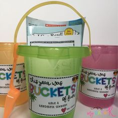 Freebie gift tag for buckets of sand! End of year gift. Kindergarten Graduation Gift, Pre K Graduation, Graduation Theme, Graduation Ideas, Teacher End Of Year, Student Teacher Gifts, End Of School Year, Pre School, Kindergarten Freebies
