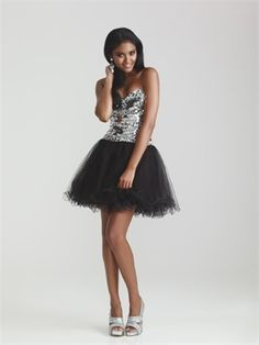 Short Sweetheart Tulle 2013 Prom Dresses