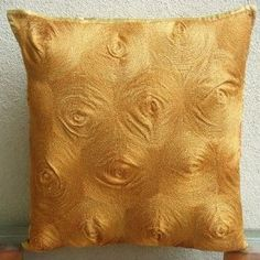 Magical Threads - Decorative Throw Pllow Covers with Hand Embroidery :     Price: $24.00    .        Magical Threads - Decorative Throw Pillow Cover. This pillow cover is made using Satin fabric with Gold Thread Circular Embroidery. Materials Used - Satin, Gold Thread. The color of the pillow cover is bright Gold. The back of the pillow is the same Gold Satin fabric with ...Check Price >> http://gethotprice.com/appin/?t=B003QAFZ7O