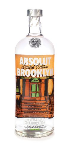 Absolut Brooklyn packaging / a Spike Lee collab