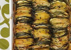 Tian de pommes de terre et de courgettes au thym