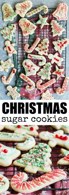 These frosted Christmas Sugar Cookies are my grand…