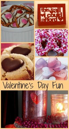 Lots of fun homemade Valentines fun